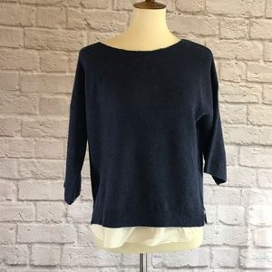 Joie Blue sweater, S, wool/cashmere blend